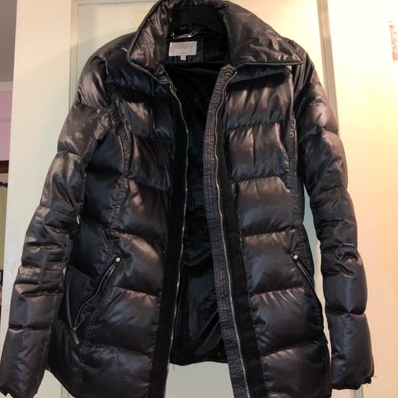 Laundry By Shelli Segal Jackets & Blazers - Trendy grey metallic puffer coat